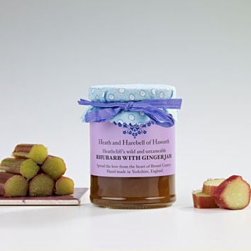 Heathcliff's wild and untameable Rhubarb with Ginger Jam