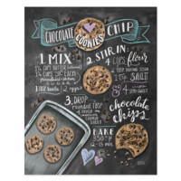 Choc Chip Cookie Recipe - Print