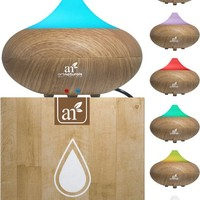 Art Naturals Essential Oil Diffuser – Electric Cool Mist Aromatherapy Humidifier Aroma Diffuser – Spa Fragrance For The...