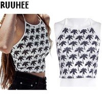 Crop Top Women Hollow out Floral Cropped Female Tank Top New Fashion 2017