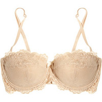 Elle Macpherson Intimates Spree embroidered tulle convertible balconette bra – 41% at THE OUTNET.COM