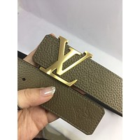 lv louis vuitton womens mens fashion smooth buckle belt leather belt monogram leather belt 20