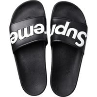 Black Supreme Slides