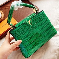 LV Fashion New Leather Shoulder Bag Handbag Crossbody Bag Green