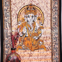 Indian Lord Ganesha Tapestry, Hippie Tapestry, Indian Lord Ganesha Wall Hanging Tapestry Curtain, Handmade Bed Cover Curtain Table Cover