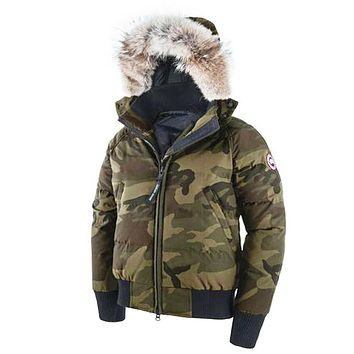 Canada Goose Women's Savona Bomber Jacket Classic Camo Removable Hood Small Size 7900L