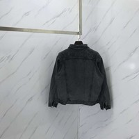 BL081 Balenciaga Retro Washed Grey Denim Jacket