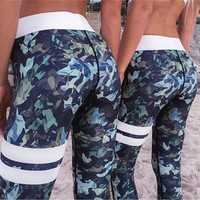 Women Printing High Waist Pants