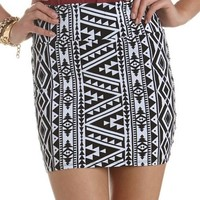 Tribal Cotton Spandex Skirt: Charlotte Russe