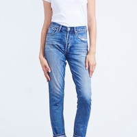 Liya High Rise Classic Fit in Fade Out (Selvedge)