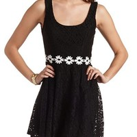 DAISY CHAIN LACE SKATER DRESS