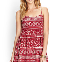 Folk Print Woven Dress