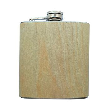 Birch Wood Flask