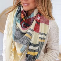 Crisp Fall Day Blanket Scarf