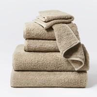 Cloud Loom Taupe Organic Bath Towels by Coyuchi