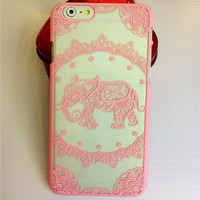 Lucky Elephant Iphone Case for 5S 6 6S Plus