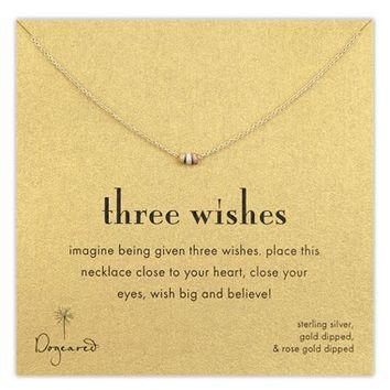Women's Dogeared 'Three Wishes' Pendant Necklace