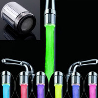 2017 Hot Romantic Water Glow 7 Colors Changing LED Light Shower Heads Home Bathroom