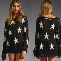 Black and White Star Sweater