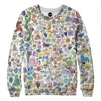 Poke Stacked Crewneck Sweatshirt | All-Over Print Sublimation Sweater