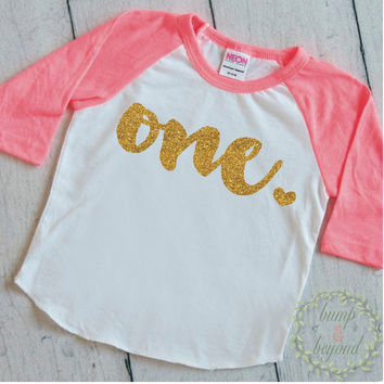 First Birthday Shirt 1 Year Old Birthday Shirt Girl One Year Old Birthday Girl Outfit Raglan Toddler Shirt 1st Birthday Shirt 102