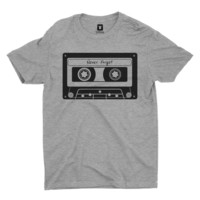 Never Forget The Cassette Tape | Heather Grey T-Shirt