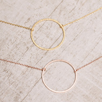 Charmed Circle Necklace - Rose Gold