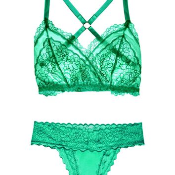 Lacey Easy Fit Lingerie Set — Emerald