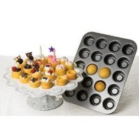 Chicago Metallic Tea Cake Pan 20 Cavity, 13.90-Inch by 10.60-Inch (2-Inch by 1.60-Inch Cavities)