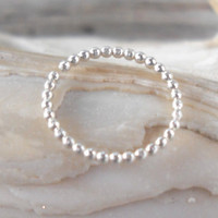 Septum Ring Bead Real or Fake,Nose Ring,Daith piercing ring,cartilage,helix,tragus,ear hoop earring,ear cuff 18 Gauge,925 Sterling Silver