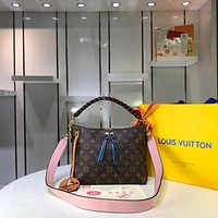 LV Louis Vuitton WOMEN'S MONOGRAM CANVAS BEAUBOURG HOBO INCLINED SHOULDER BAG