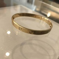 Authentic Cartier 18K Love Bracelet Yellow Gold Size 17 Preowned
