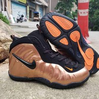 Nike Air Foamposite Pro Black Gold Velcro Toddler Kid Shoes - Best Deal Online