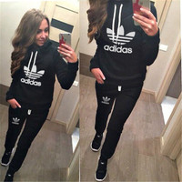 "Fashion Women Multi-Color ""Adidas"" Letter & Logo Print Casual Sportswear = 4472612420"