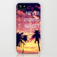 Never Ending Sunset - for Iphone iPhone & iPod Case by Simone Morana Cyla