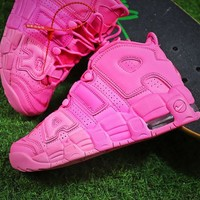 Nike Air More Uptempo QS Retro Pink Basketball Shoes - Best Online Sale
