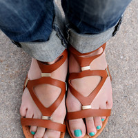 Path of the Warrior Sandal - Cognac