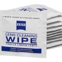 Zeiss Pre-Moistened Lens Cleaning Wipes, 6 x 5-Inches (100-Count)