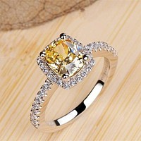 Engagement Ring White Gold Color