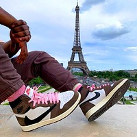 Nike AJ jordan 1 11 High top Classic Basketball shoes Sneakers custom barb grimace trend with joint army green