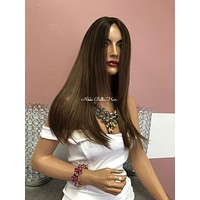 """Blond Balayage Swiss Lace Front Wig 20""""