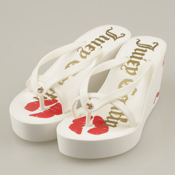 Trendsetter Juicy Couture Fashion Women Platform Sandal Slipper Shoes