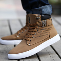 Hot 2017 Spring Autumn Lace-Up Men Shoes Thick Warm Man Casual Plush Canvas Ankle Buckle Boots Winter Fashion Leather Shoes Mens