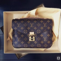 LV Louis Vuitton Hot Stylish Women Shopping Leather Handbag Shoulder Bag Crossbody Satchel I/A