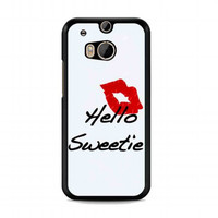 kiss hello sweetie For HTC One M8 case