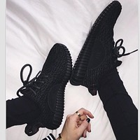 Tagre™ Adidas Women Yeezy Boost Sneakers Running Sports Shoes Black