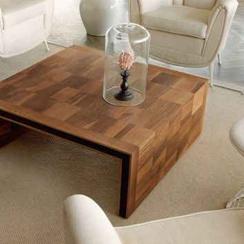 Low square wooden coffee table H-119 by Dale Italia   design Arbet Design