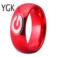 University of Georgia Bulldogs   UGA   Tungsten Ring Band   Red   8MM   Comfort Fit