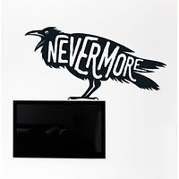 Wall Vinyl Decal Quotes Black Raven Edict Never More Home Interior Decor Unique Gift z4525