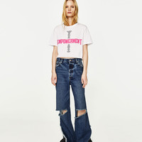 CROPPED EMPOWERMENT T-SHIRT DETAILS